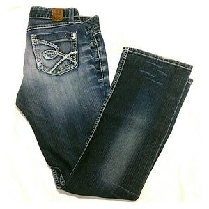 BKE Denim 27 Madison Stretch Distressed Boot Jeans
